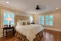 Another view of the master bedroom.  Wood plantation shutters were installed on all the windows in the house.